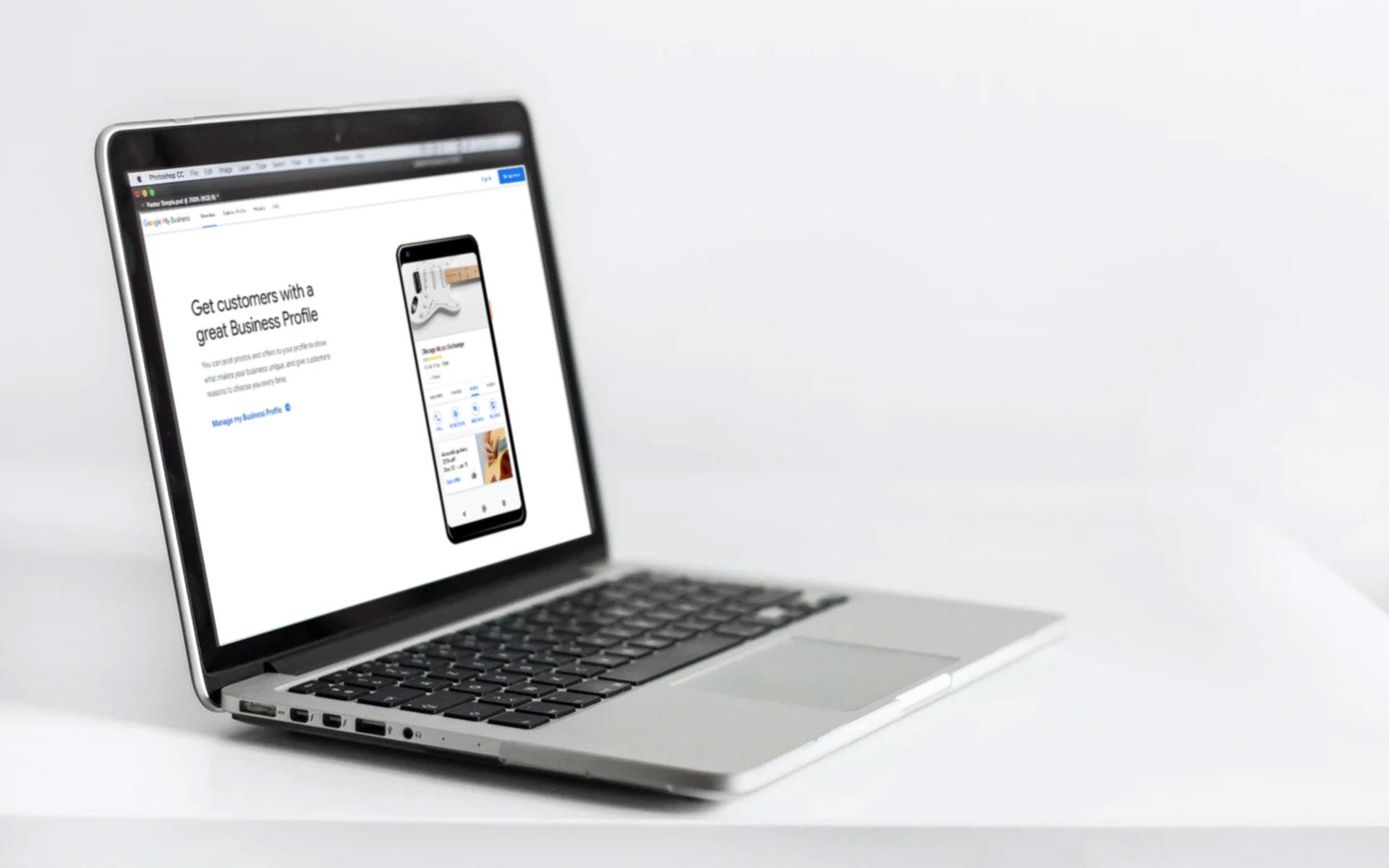 Google My Business on Laptop